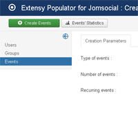 Creating fully functional recurring group Events : Just type a number and press the button.