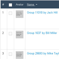 Groups created by Populator listed in Jomsocial administration.