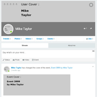 The Profile of a User created by Populator presented in the front end. The User has been logged in and can edit the profile.